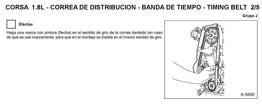 What Is A Timing Belt >> Chevrolet Corsa - Banda de Tiempo | Sincronizacion ...