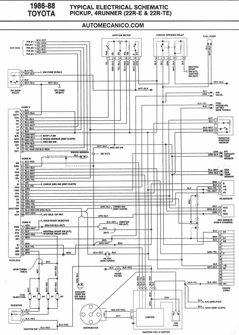 D R on 1986 Toyota 22re Diagram