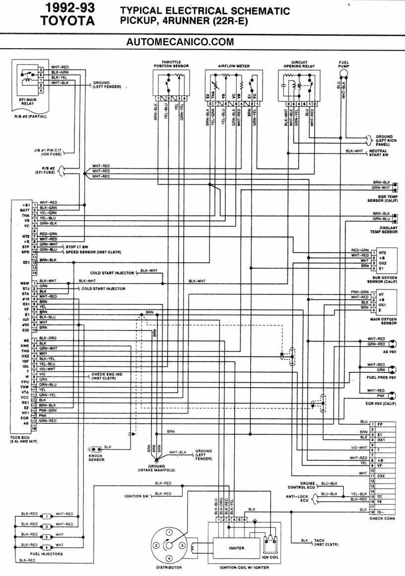 Toyota 22re Engine Diagrams on toyota corolla engine starter location free wiring diagram