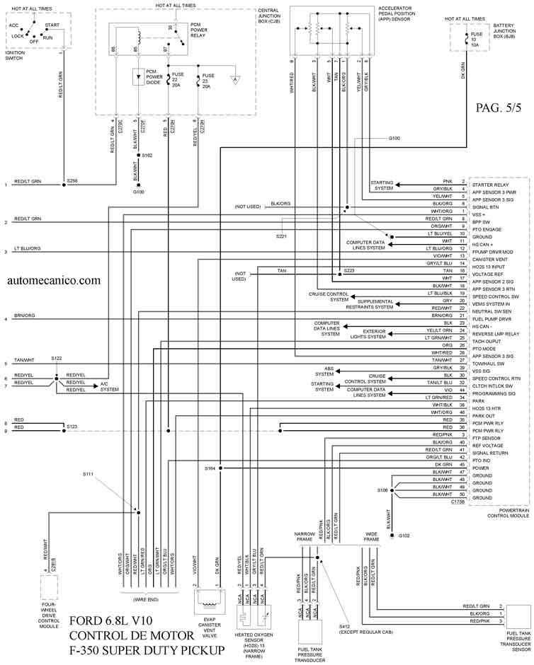 diagrama electrico control del motor 55
