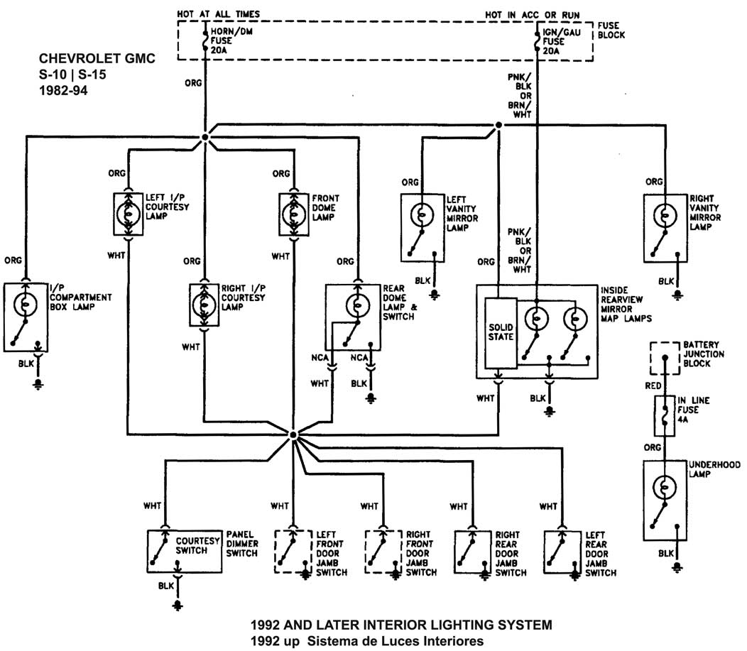 94 Chevy S10 Blazer Wiring Diagram Diagrams Free Truck 1992 1500 Gm Alternator Get Image About 1994