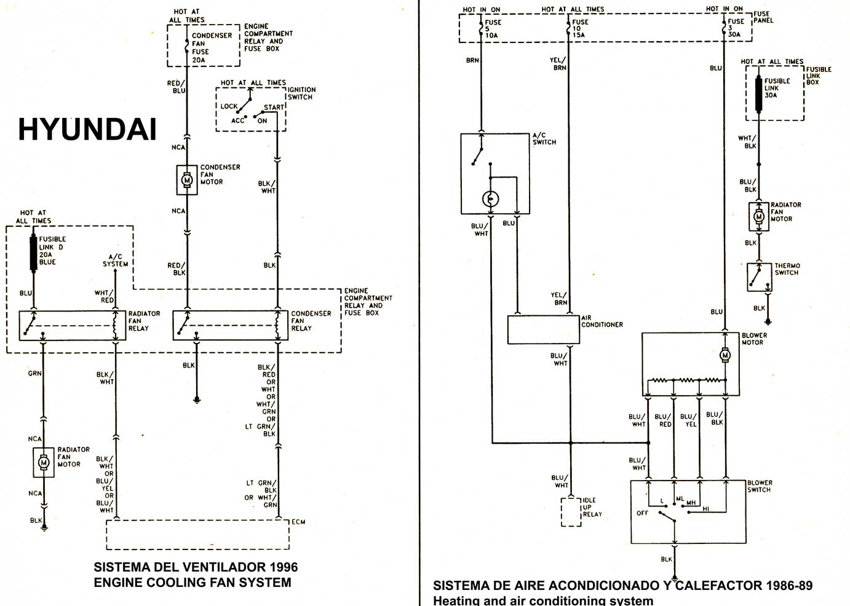 Sistema de calefaccion hyundai accent