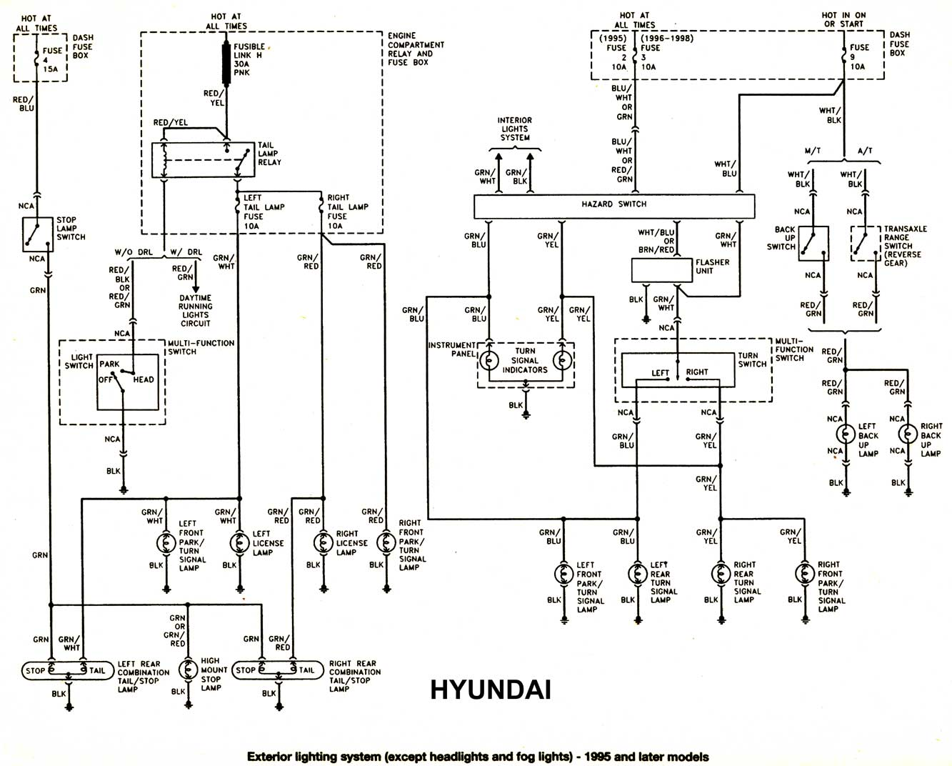 Free Wiring Diagrams for 94 Hyundai Excel