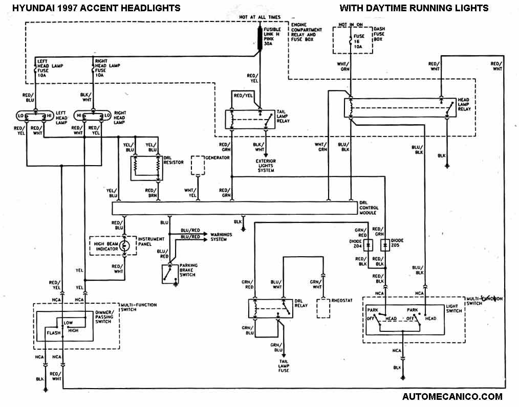 hyundai excel  u0026 accent 1986  97 esquemas electricos