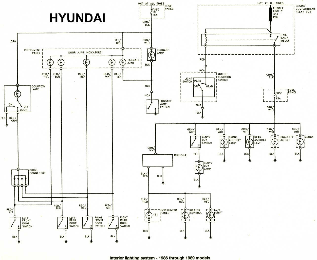 Hyundai Accent 1997 Wiring Diagram Schematics Diagrams 2007 Stereo 1986 97 Diagramas Esquemas Ubicacion De Radio 2009