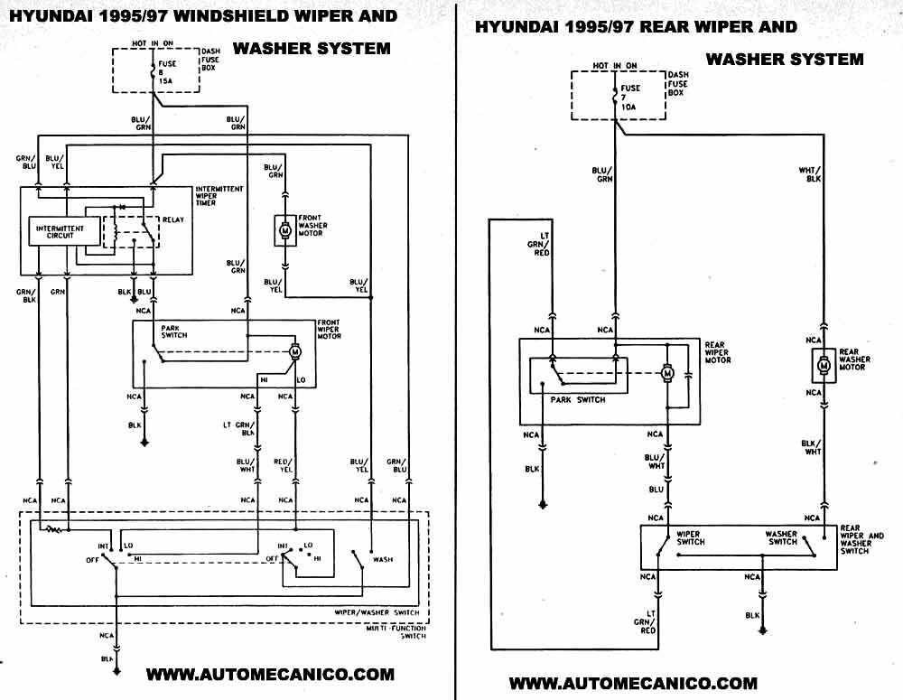 Circuito Levanta Vidrios Electricos : Hyundai  diagramas esquemas ubicacion de