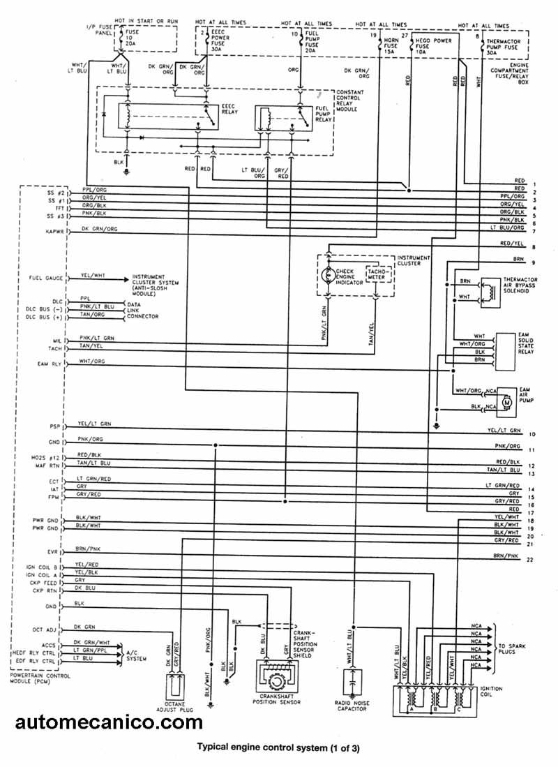ford diagramas esquemas electricos taurus mecanica automotriz
