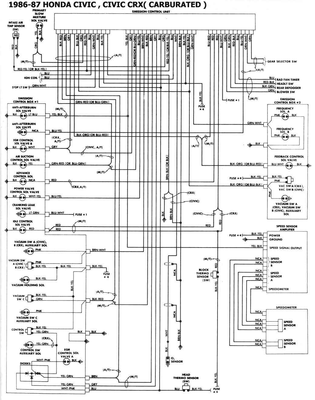 87 Crx Wiring Diagram 87 Crx Wiring Diagram Free Picture Wiring