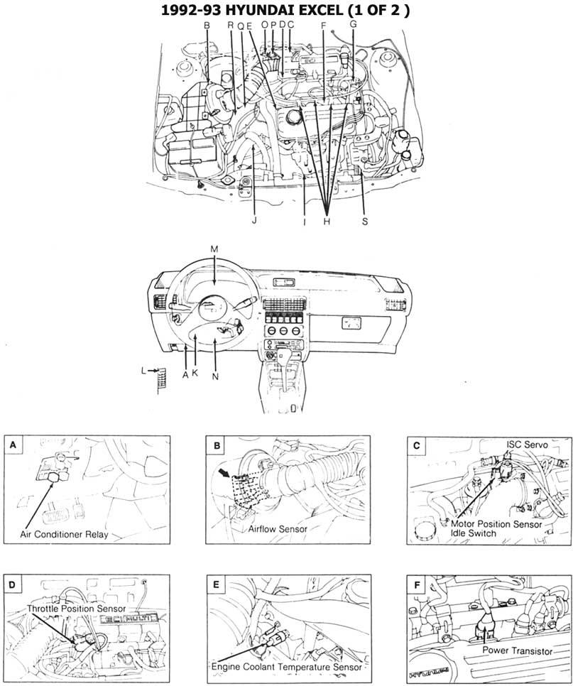 diagrama motor hyundai excel 93