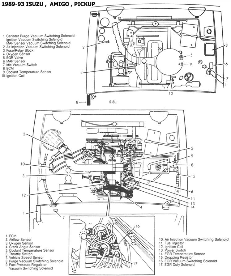 Isuzu Pick Ups 1986 93 Diagramas Esquemas Graphics