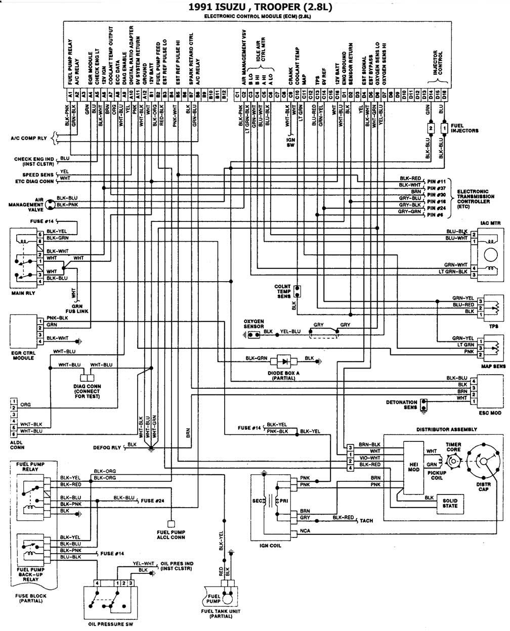 [SCHEMATICS_4ER]  BAB989 91 Trooper Ecm Wiring Diagram | Wiring Resources | 1991 Isuzu Trooper Wiring Diagram |  | Wiring Resources