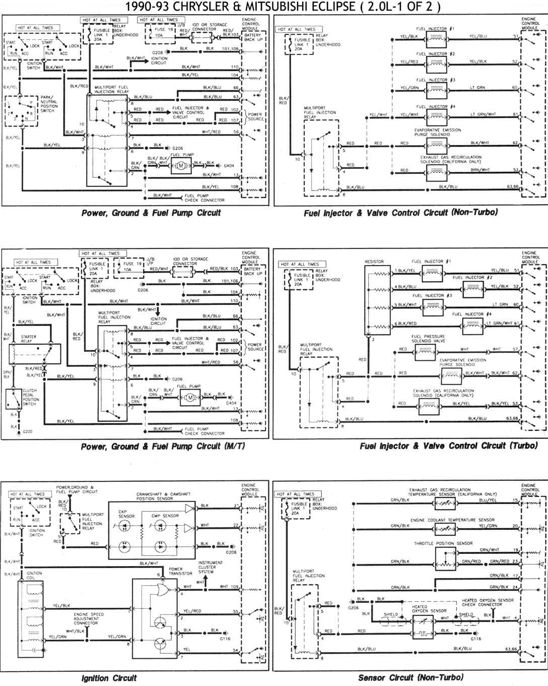 diagramas electricos stratus 98