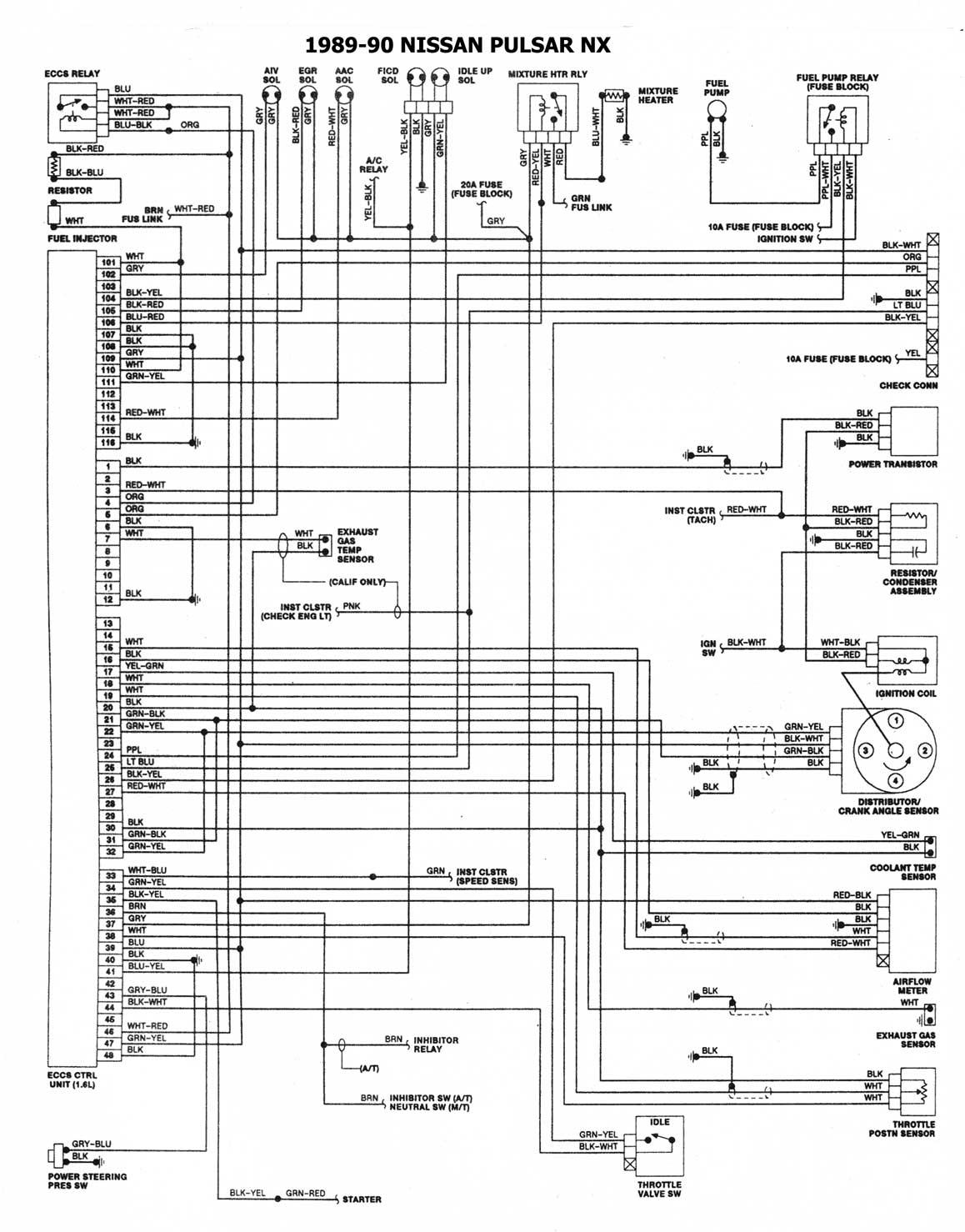 Nissan 1986 93 Diagramas Esquemas Ubicacion De Componentes 89 Maxima Fuse Box 1989 90 Esquema Electrico