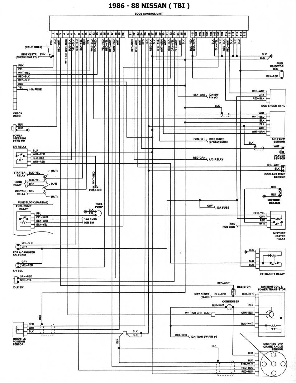 Nissan 1986 93 Diagramas Esquemas Ubicacion De Componentes 1991 Stanza Engine Diagram