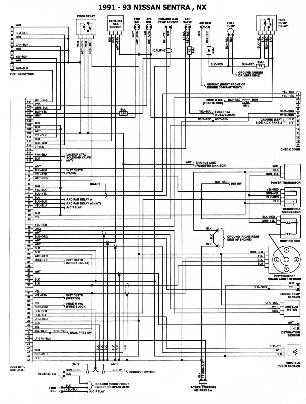 diagrama electrico nissan sentra 98. Black Bedroom Furniture Sets. Home Design Ideas