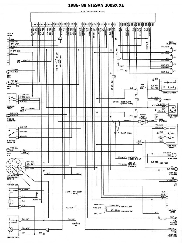 Nissan 1986 93 Diagramas Esquemas Ubicacion De Componentes Ga16 Wiring Diagram 88 200sx Xe