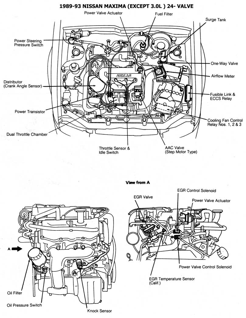 Diagram Of 1986 Nissan Maxima 3 0 Engine