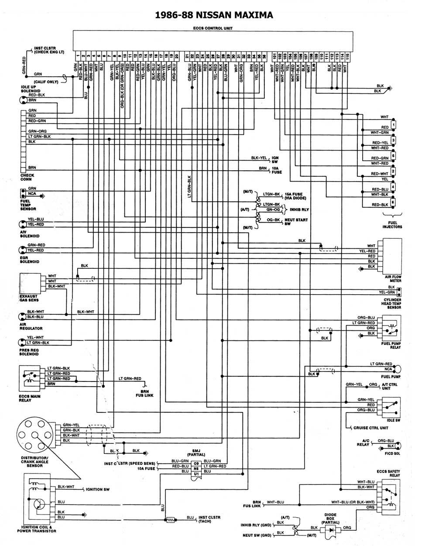 1986 Nissan Maxima Fuse Box Diagram