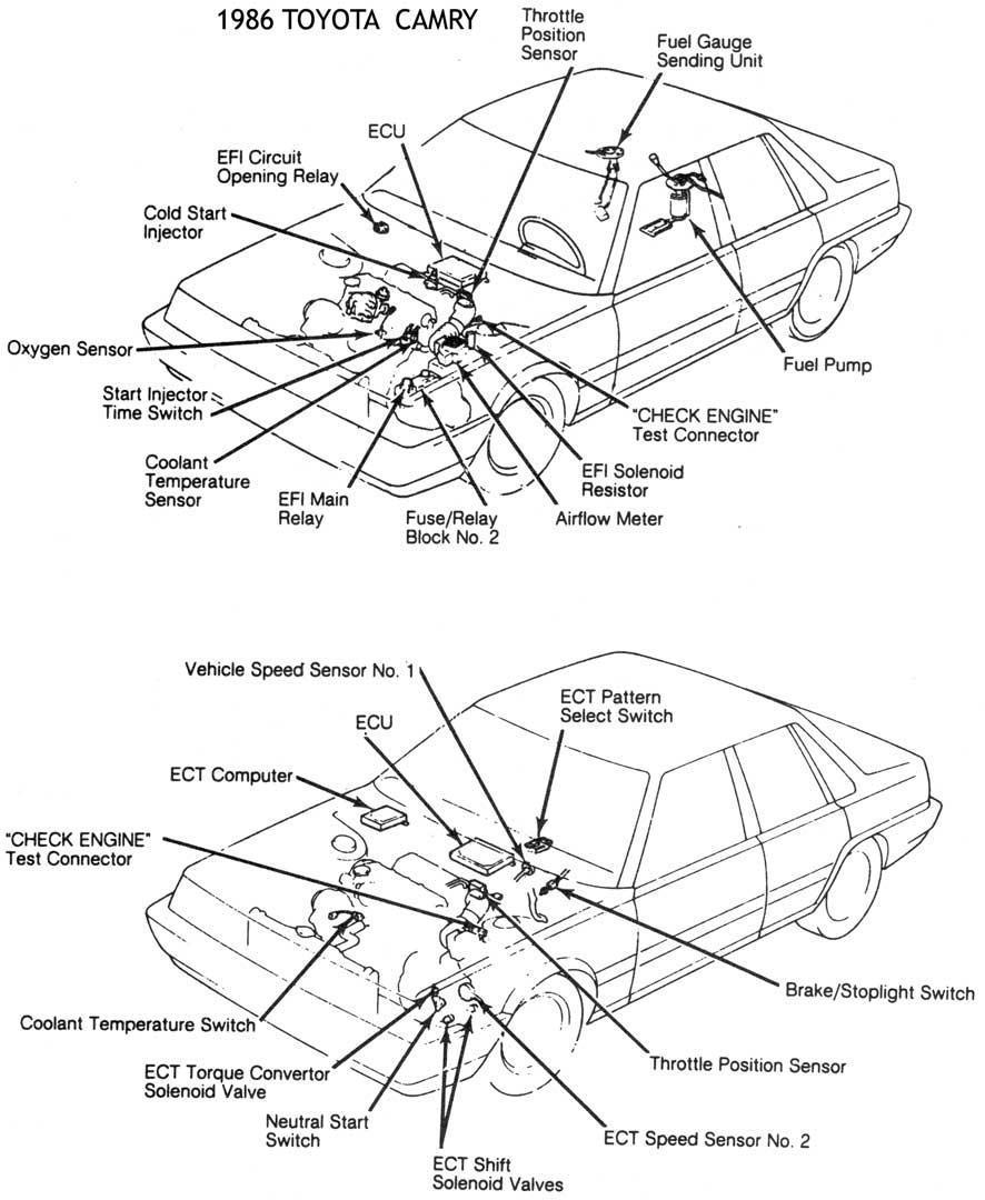 1986 Toyotum Camry Engine Diagram