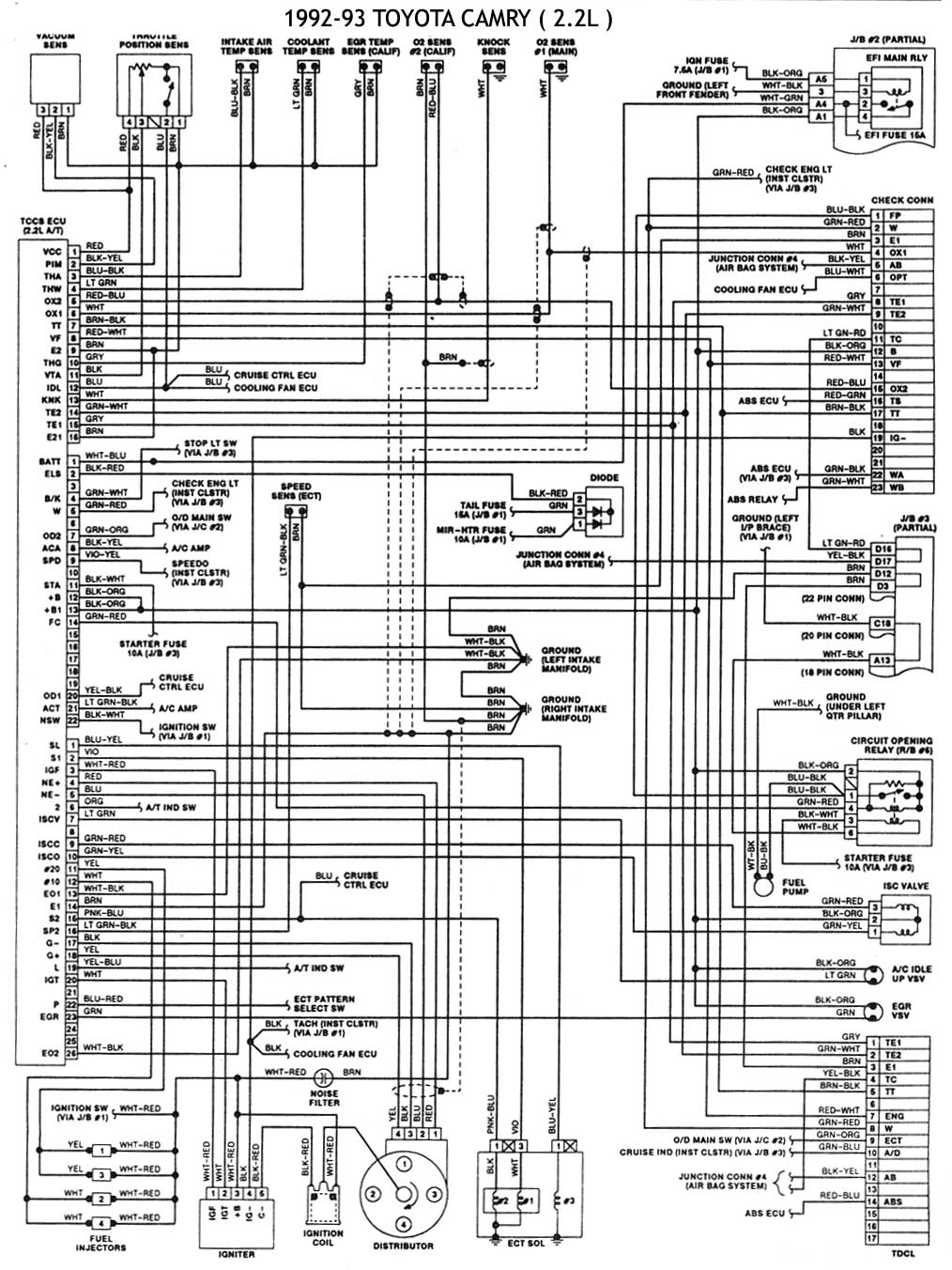 93 Toyota Wiring Schematic Another Blog About Diagram T100 Pick Up Engine Corolla Get Free Image 1993 Camry