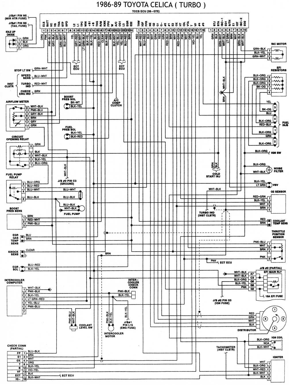toyota 1986 93 diagramas esquemas ubic de comp mecanica