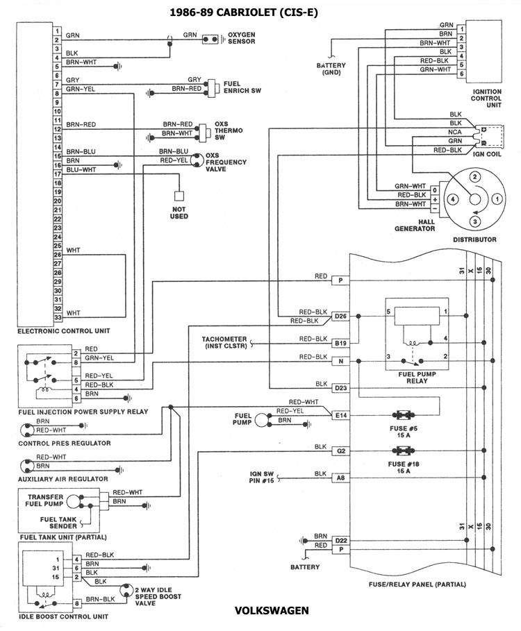 volkswagen 1986 93 diagramas esquemas ubicacion de components rh automecanico com Diagramas Electricos Automotrices Gratis Diagramas Electricos De Automoviles