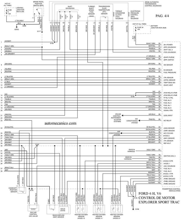 Ford Explorer 4 0l Sport Trac V6 2005 Diagramas Esquemas Graphics