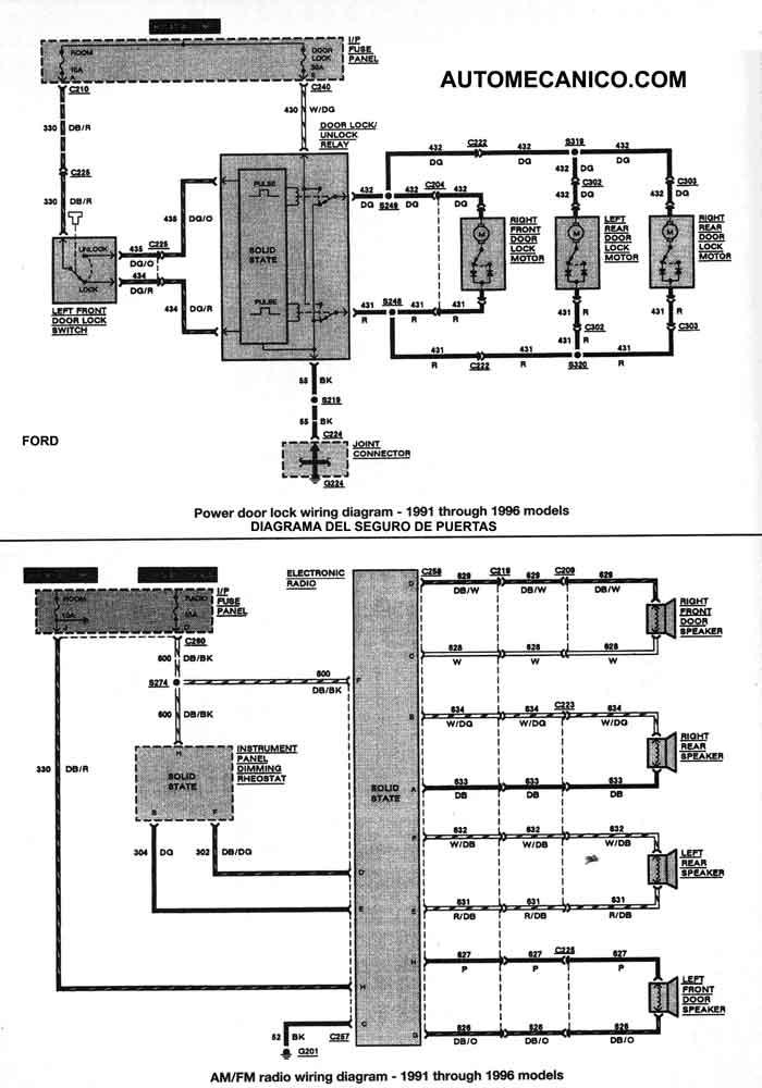 Ford Escort Amp Mercury Tracer 1991 96 Diagramas Que Es Un