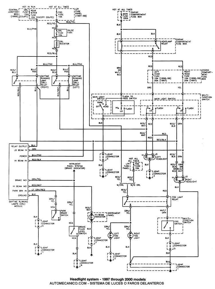 1998 mercury tracer motor diagram