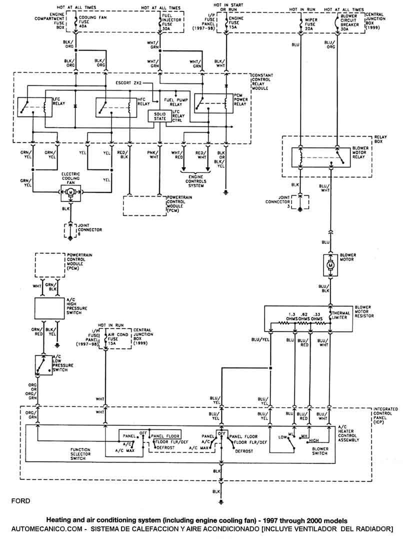 Ford Mercury Diagramas Esquemas Graphics Escort