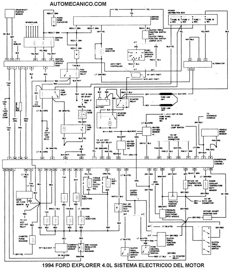 diagrama electrico ford explorer 1998 pdf