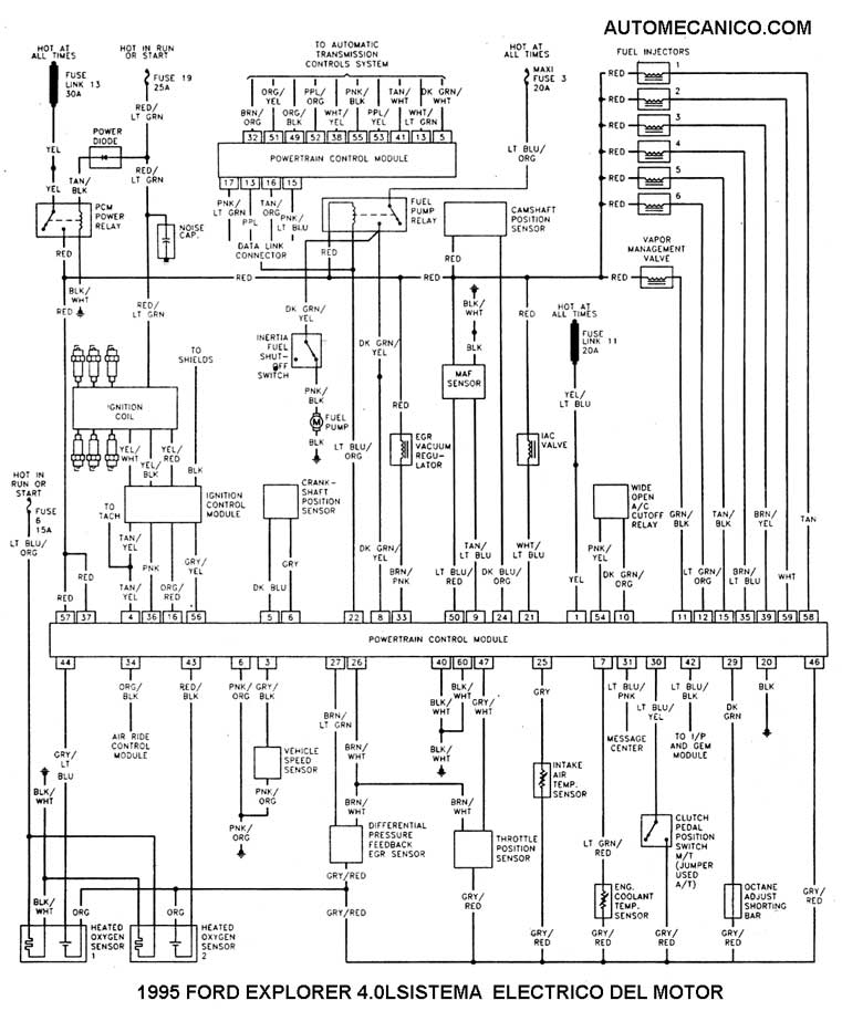wiring diagram for 92 ford explorer