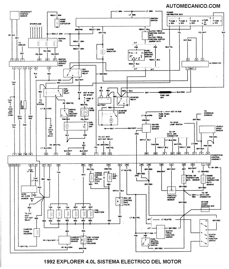 Fordex on 1992 Ford Explorer Wiring Diagram