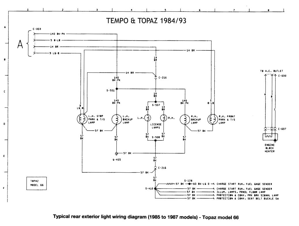 93 Tempo Wiring Diagram Diagrams Ford 1992 Get Free Image About 1984 1993