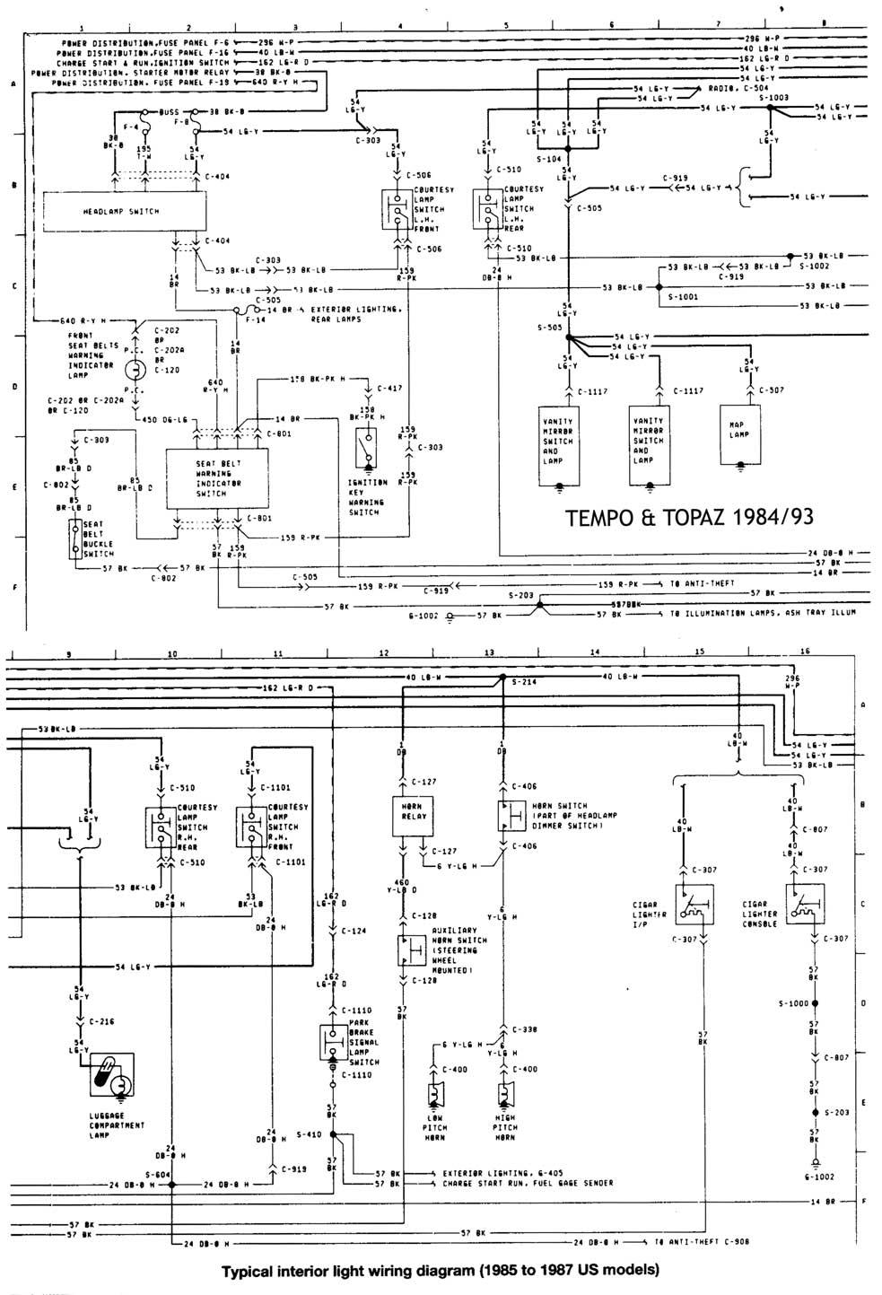 Ford Tempo Mercury Topaz 1984 93 Diagramas Esquemas