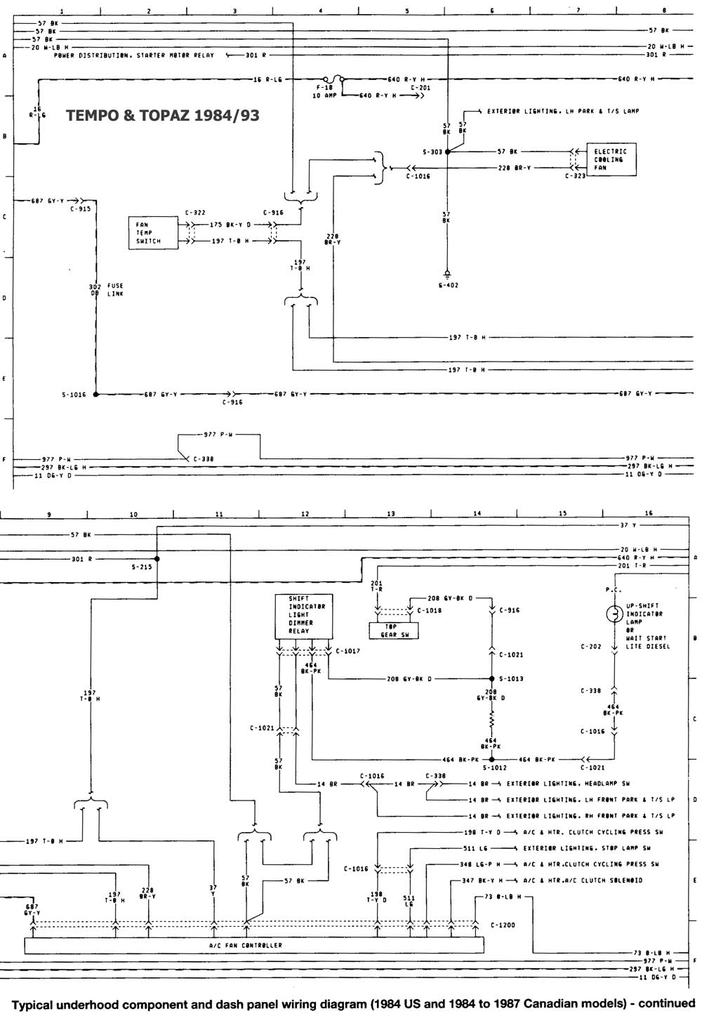 wiring diagrams for 1989 ford tempo