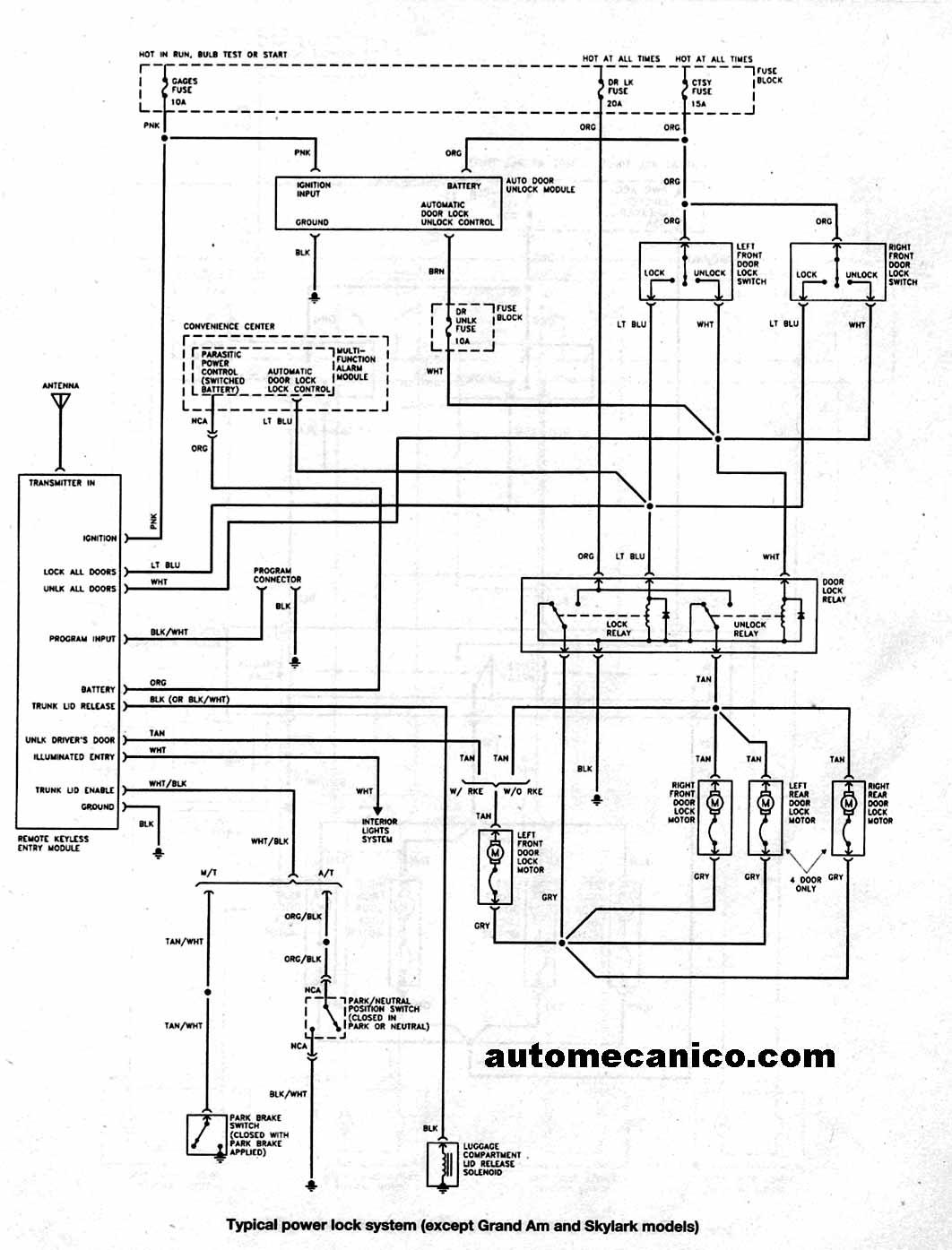 1997 buick skylark diagrama de cableado