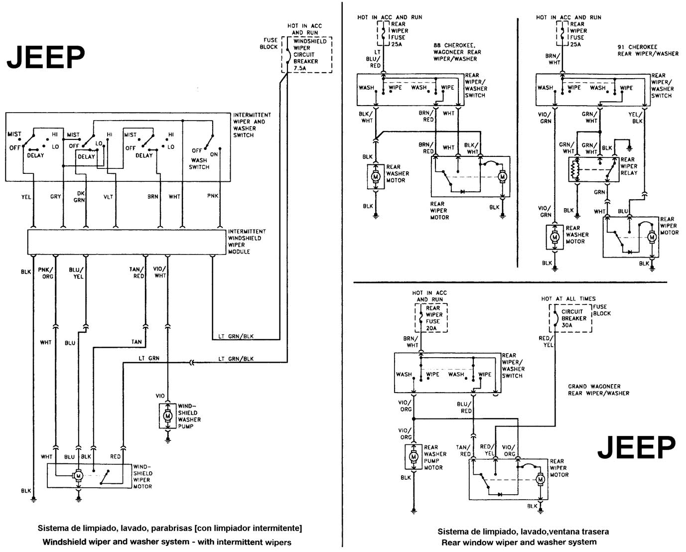 wiring diagram for 1986 jeep comanche wiring diagram for