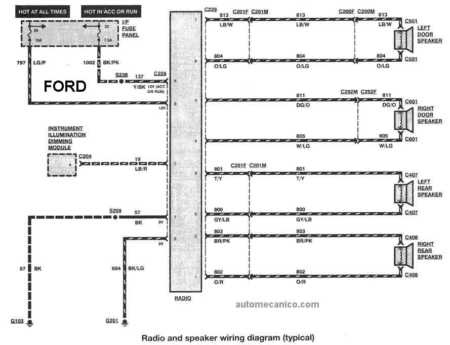98 ford truck stereo wiring diagram