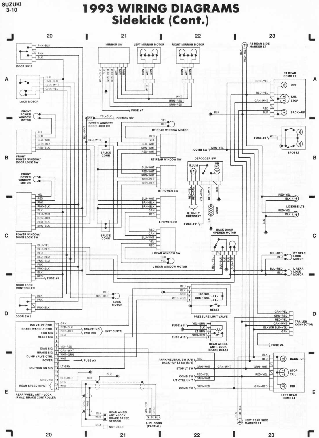 Sidekick on suzuki sidekick wiring diagram