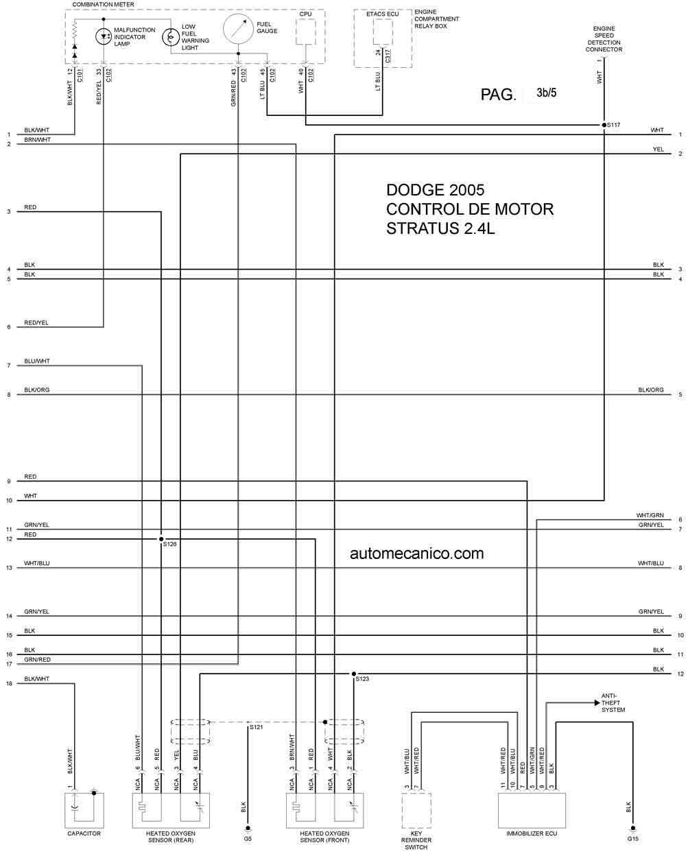 Dodge Stratus 2005 Diagramas Esquemas Graphics