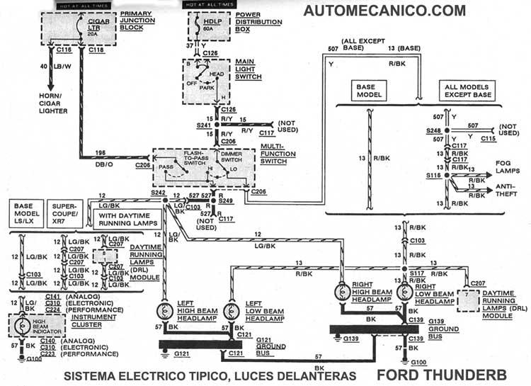ford thunderbird 1990  93