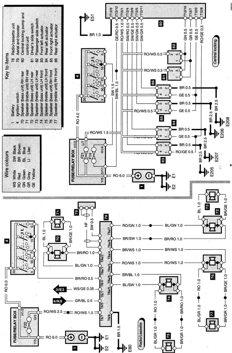 Vw Jetta Radio Wiring Diagram. Volkswagen. Wiring Diagrams Instructions