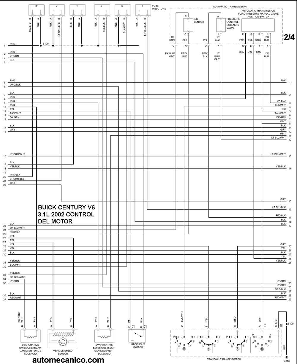 buick - diagramas control del motor 2002