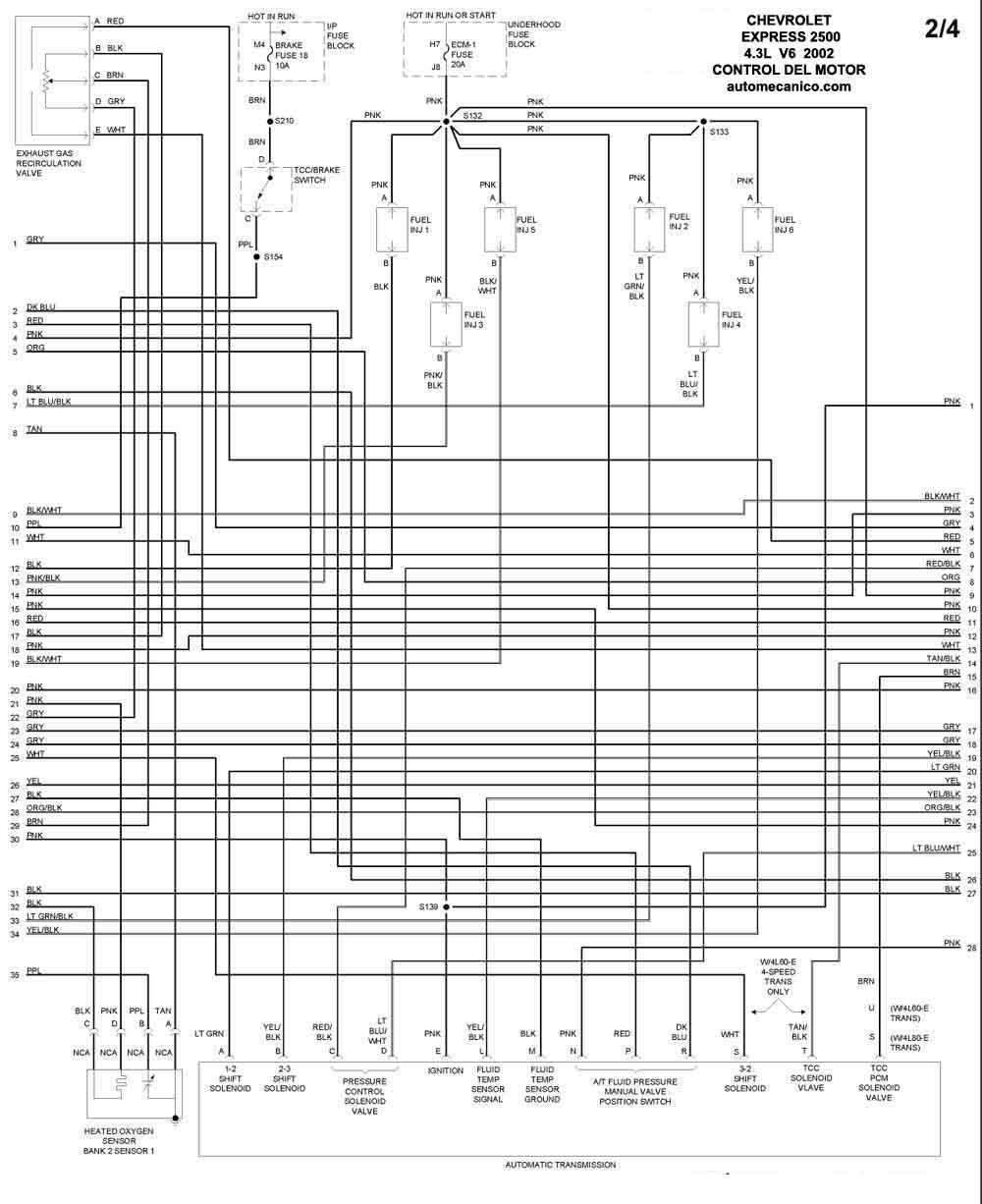 chevrolet - diagramas control del motor 2002