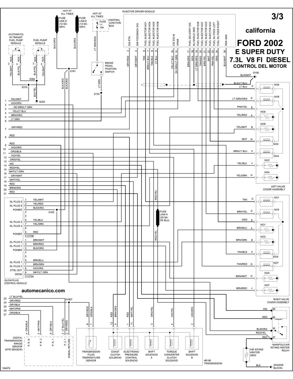 ford - diagramas control del motor 2002