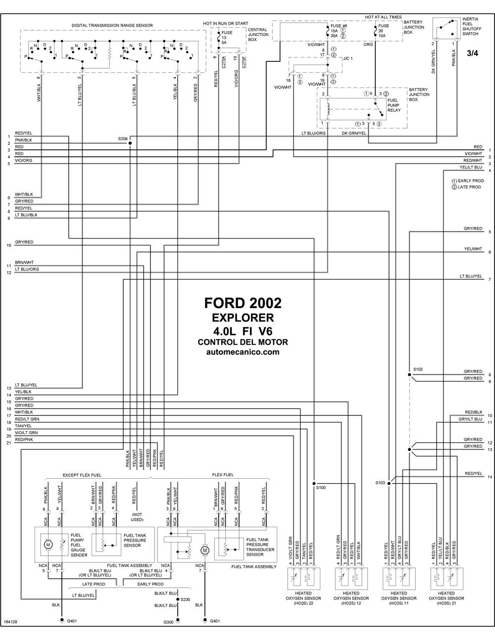 engine ford explorer 2002 diagrama electrico