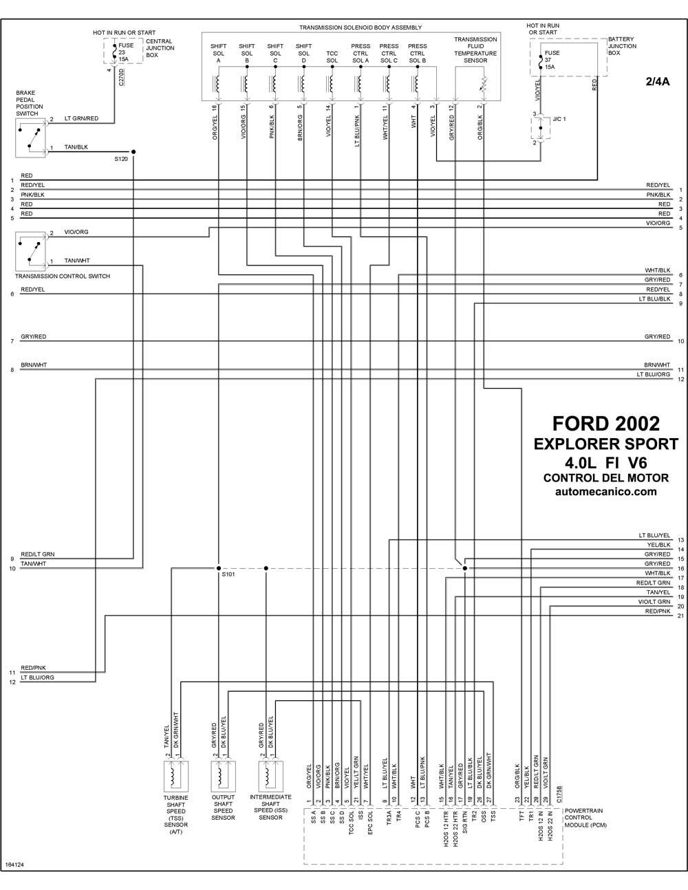 diagramas de electronico transmision jeep 2001