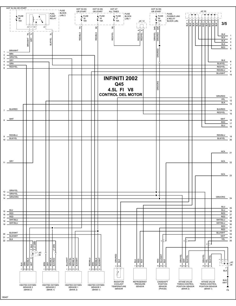 infiniti - diagramas control del motor 2002