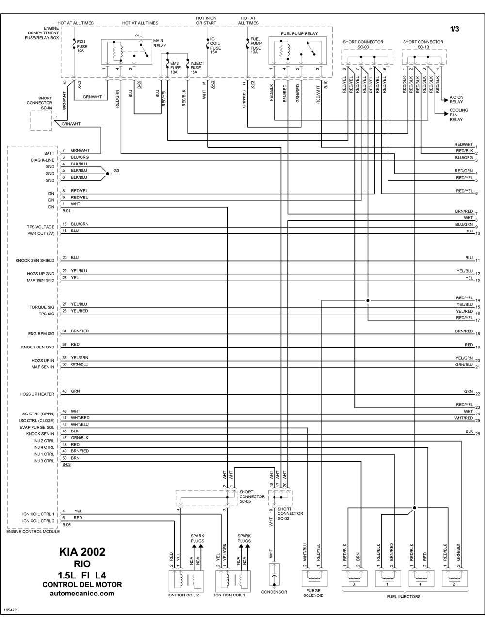 Diagrama Motor Kia Rio 2002